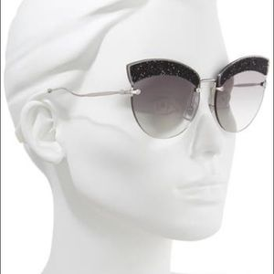 Miu Miu 65mm Scenique Evolution Cateye Sunglasses